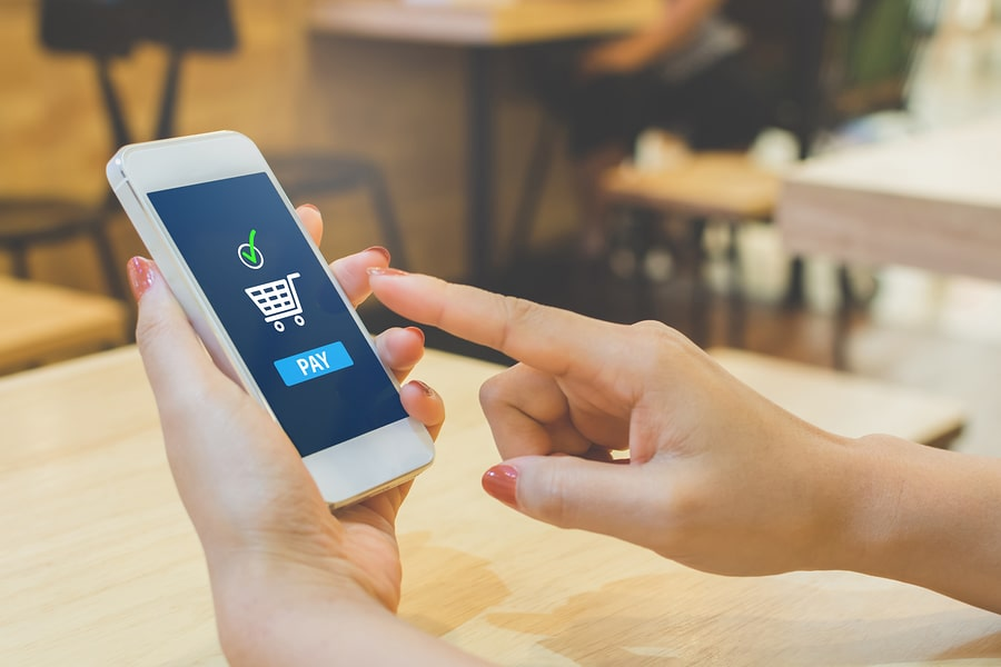 paying for purchase using e-wallet