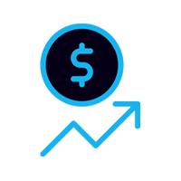 increasing money icon