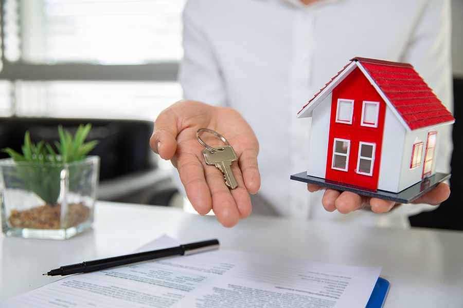 housing loan offer with form on table