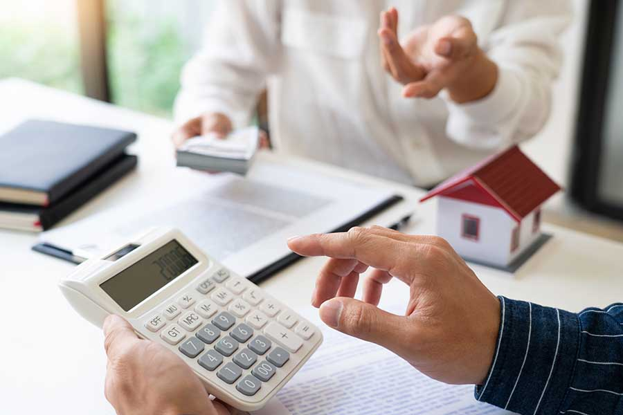 calculating loan interest rates on calculator
