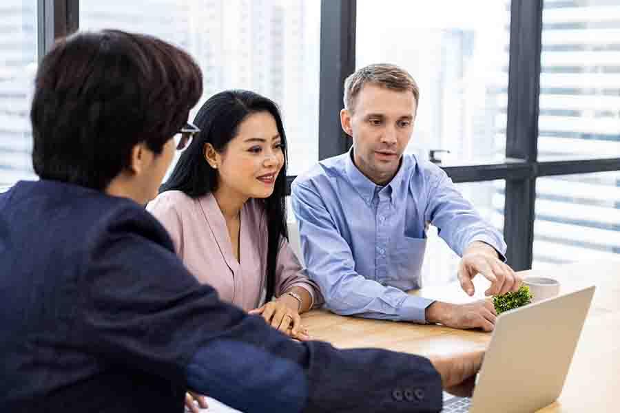 licensed moneylender explaining loan terms